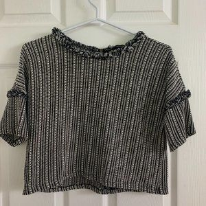 2/$15 Forever 21 Black and White Crop Top